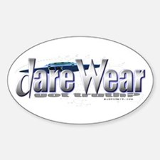 Dare Wear blue Oval Decal