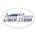Dare Wear blue Oval Sticker