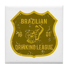 Brazilian Drinking League Tile Coaster