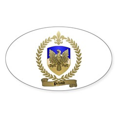 PICHAUD Family Crest Oval Decal