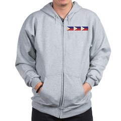 Philippine Flags Zip Hoodie