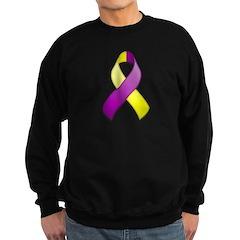 Purple and Yellow Awareness Ribbon Sweatshirt
