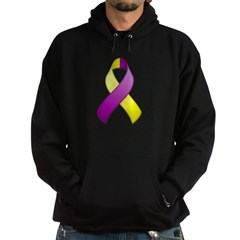 Purple and Yellow Awareness Ribbon Hoodie