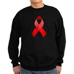 Red Awareness Ribbon Sweatshirt (dark)