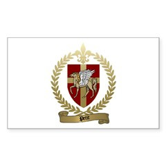 PETIT Family Crest Rectangle Decal
