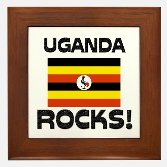 Uganda Rocks! Framed Tile