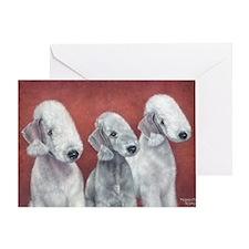 Bedlingtons Three Greeting Card