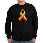 Red and Yellow Awareness Ribbon Sweatshirt (dark)
