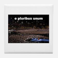 e pluribus unum Tile Coaster