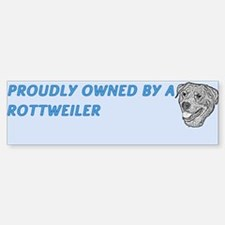 Proudly Owned Rottweiler Sticker (Bumper)