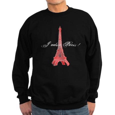 Eiffel Tower J'adore Paris Sweatshirt (dark)