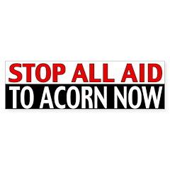 Ban Acorn Bumper Sticker (10 pk)