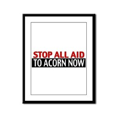 Ban Acorn Framed Panel Print