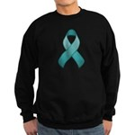 Teal Awareness Ribbon Sweatshirt (dark)