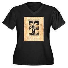 Bill Cody Women's Plus Size V-Neck Dark T-Shirt
