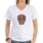 Riverside FD Station 4 Women's V-Neck T-Shirt