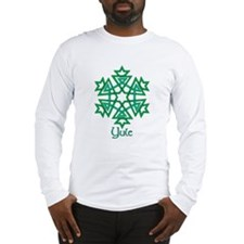 Green Snowflake Long Sleeve T-Shirt