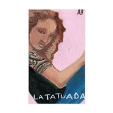 Loteria Series 08: La Tatuada Rectangle Decal