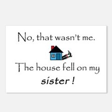 House fell on my Sister Postcards (Package of 8)