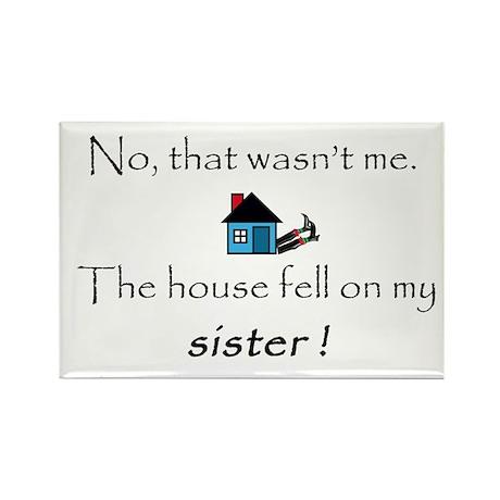 House fell on my Sister Rectangle Magnet (10 pack)