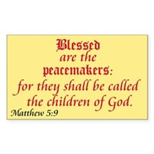 Blessed are the Peacemakers Rectangle Decal