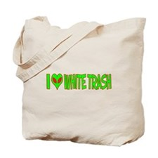 I Love-Alien White Trash Tote Bag