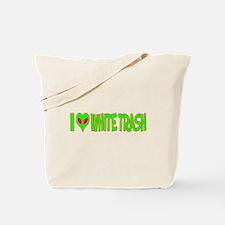 I Love-Alien White Trash Tote Bag