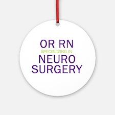 OR RN Neuro Ornament (Round)