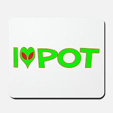 I Love-Alien Pot Mousepad