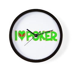 I Love-Alien Poker Wall Clock