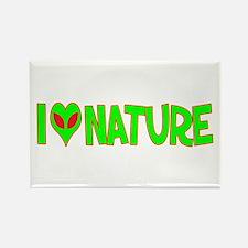 I Love-Alien Nature Rectangle Magnet
