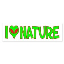 I Love-Alien Nature Bumper Bumper Sticker