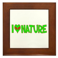 I Love-Alien Nature Framed Tile