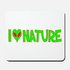 I Love-Alien Nature Mousepad
