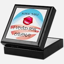 Kiss Me I Voted Keepsake Box