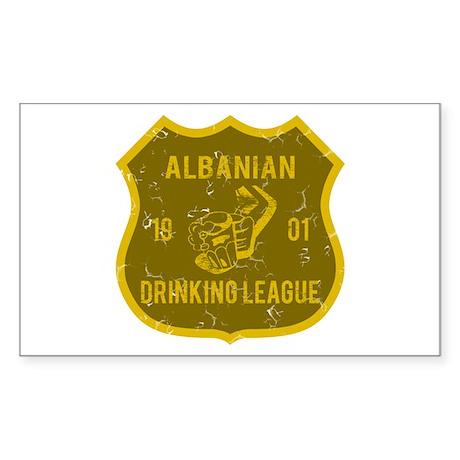 Albanian Drinking League Rectangle Sticker
