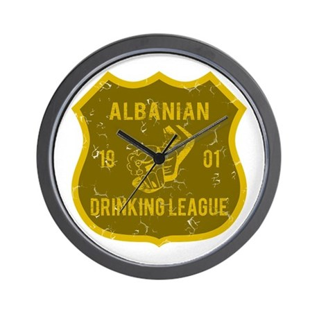 Albanian Drinking League Wall Clock