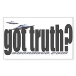 got truth? saucer Rectangle Sticker