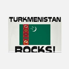 Turkmenistan Rocks! Rectangle Magnet