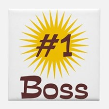Number One Boss Tile Coaster