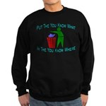 You Know Where Sweatshirt (dark)