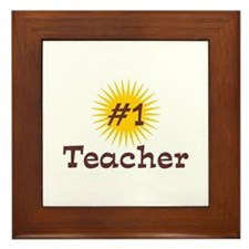 #1 Teacher Framed Tile