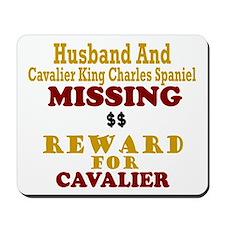 Husband & Cavalier King Charles Missing Mousepad