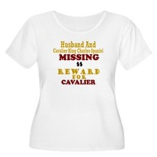 Husband & Cavalier King Charles Missing T-Shirt