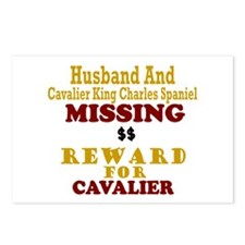 Husband & Cavalier King Charles Missing Postcards