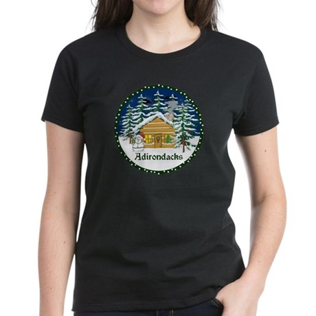 Adirondack Christmas Women's Dark T-Shirt