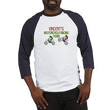 Vincent's Motorcycle Racing Baseball Jersey