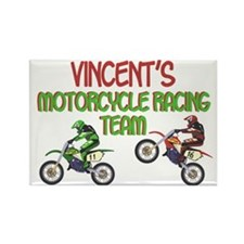 Vincent's Motorcycle Racing Rectangle Magnet