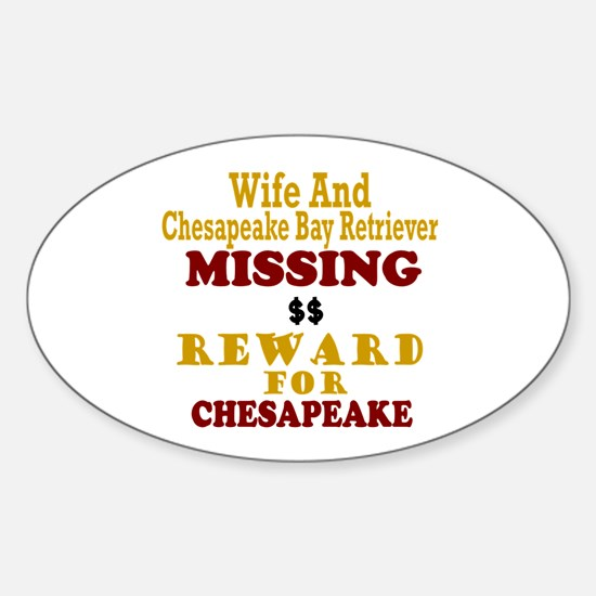 Wife & Chesapeake Bay Retriever Missing Decal
