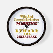 Wife & Chesapeake Bay Retriever Missing Wall Clock